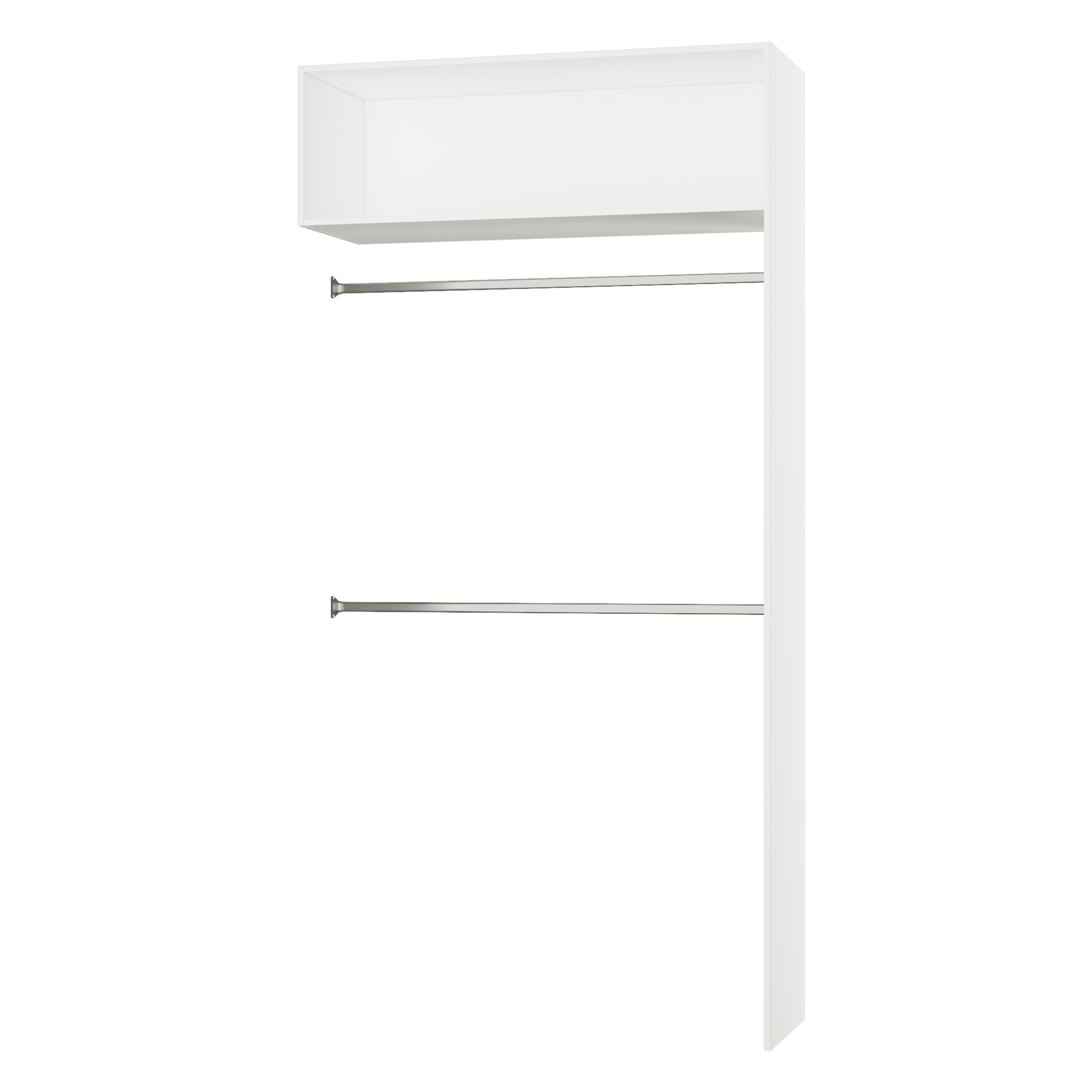 Penderie Extensible Spaceo Home Effet Chene Naturel H 240 X L 120 X P 45 Cm Leroy Merlin