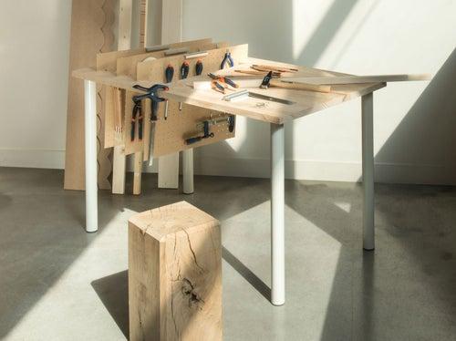 Diy Créer Une Table établi Avec Des Rangements Verticaux