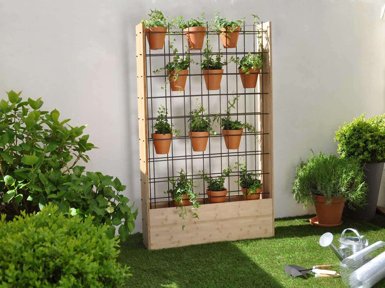 Mur Végétal Extérieur Palette diy : fabriquer un mur végétal d'extérieur | leroy merlin