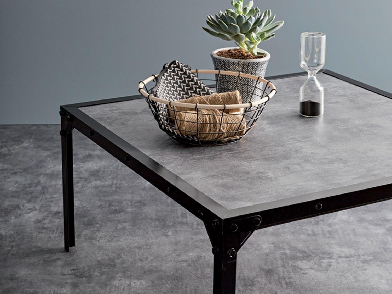 Comment Faire Une Table En Béton Ciré diy : fabriquer une table basse au style industriel | leroy