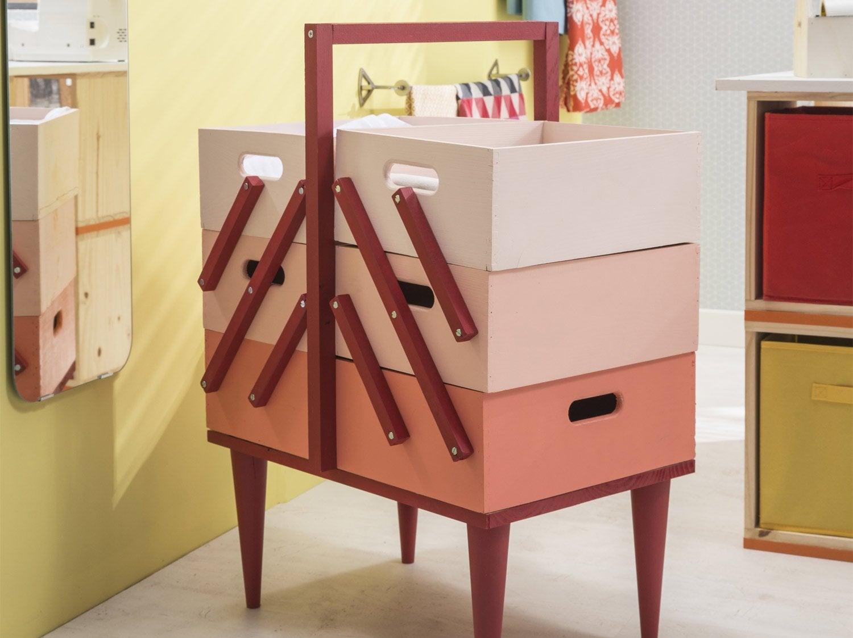 Comment Fabriquer Une Caisse En Bois diy : fabriquer une boîte à couture pastel | leroy merlin