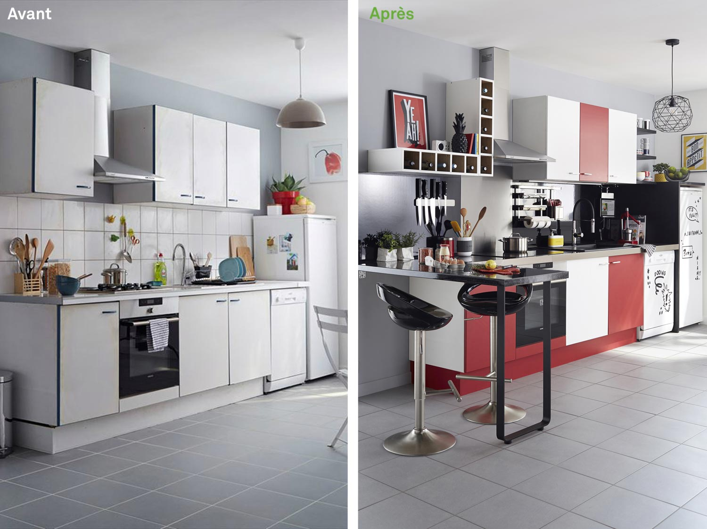 Relooking Maison Avant Apres relooker une cuisine en 48h : avant - après | leroy merlin