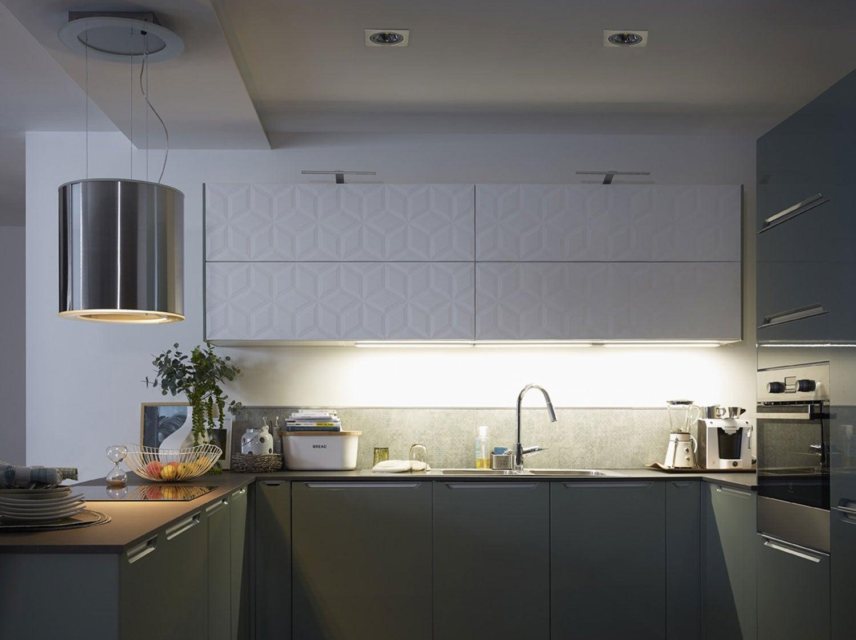 Spot Au Dessus Evier Cuisine tout savoir sur l'éclairage dans la cuisine | leroy merlin