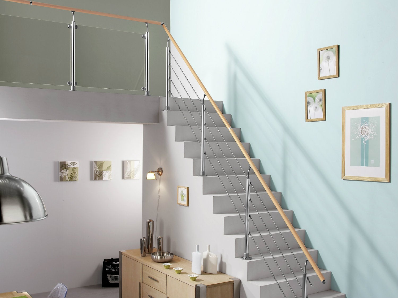Garde Corps Haut Escalier comment choisir sa main courante d'escalier ? | leroy merlin