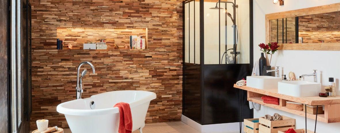 Une salle de bains récup chic | Leroy Merlin