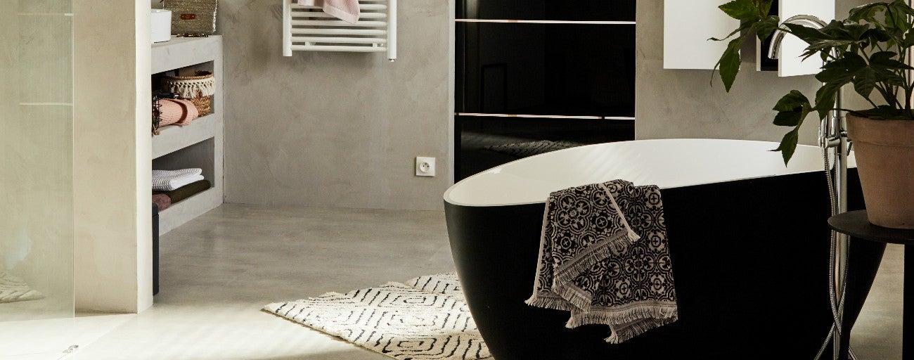 Fantastique Le béton ciré dans la salle de bains | Leroy Merlin ZZ-75