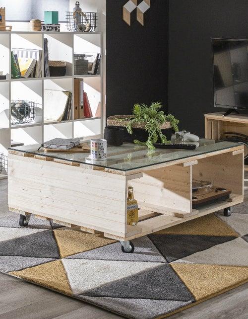 Diy Réaliser Une Table Basse En Palettes à Roulettes