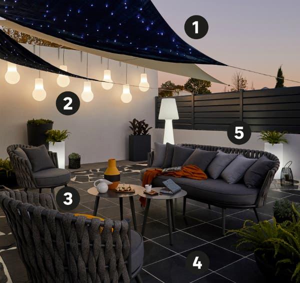 Extremement Aménager une petite terrasse chic | Leroy Merlin WZ-73