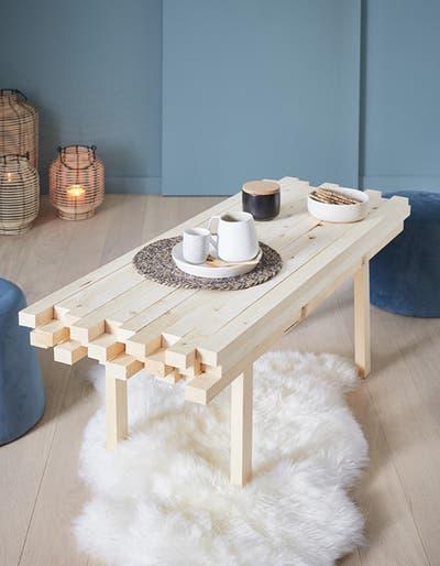 DIY : fabriquer une table basse en tasseaux