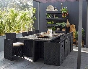 table de jardin extensible leclerc